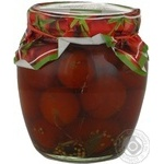 Vegetables tomato Ukrpole pickled 550g glass jar