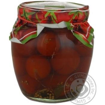 Овощи помидор Укрполе маринованная 550г стеклянная банка