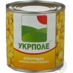 Vegetables corn Ukrpole canned 425g can