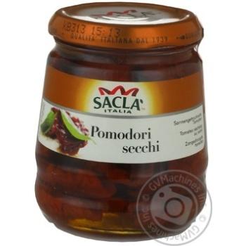 Овощи помидор Сакла консервированная 280г стеклянная бутылка Италия