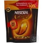 Natural instant sublimated coffee Nescafe Gold 38g Russia