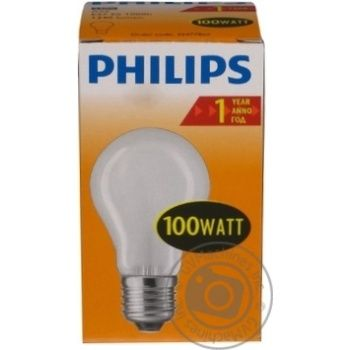 Лампа Philips A55 звичайна матова 100w E27 FR - купить, цены на Novus - фото 6