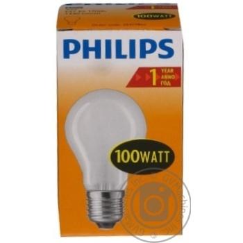Лампа Philips A55 звичайна матова 100w E27 FR - купить, цены на Novus - фото 1