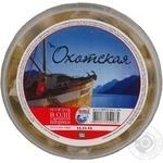 Філе оселедця Охотська шматочки в олії з ароматом паприки 500г Україна
