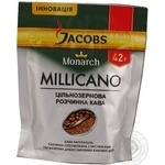 Natural wholegrain instant sublimated coffee Jacobs Monarch Millicano 42g Germany