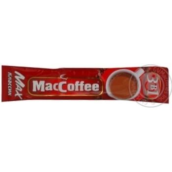 Напиток кофейный МакКофе 3в1 Макс Класик растворимый с сахаром и подсластителем в стиках 16г Сингапур - купить, цены на МегаМаркет - фото 1