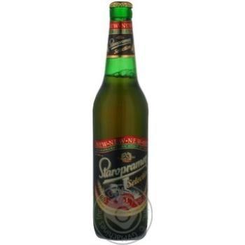 Пиво Старопрамен Селекшен светлое пастеризованное стеклянная бутылка 4.6%об. 500мл Украина