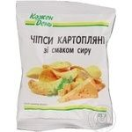 Чипсы Каждый день картофельные со вкусом сыра 25г