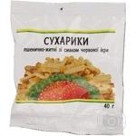 Kozhen Wheat-Rye Crisps With Red Caviar Flavor