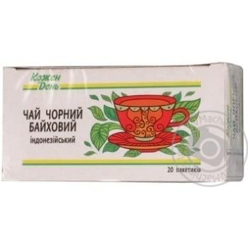Черный чай Каждый день индонезийский байховый мелкий в пакетиках 20х1,5г
