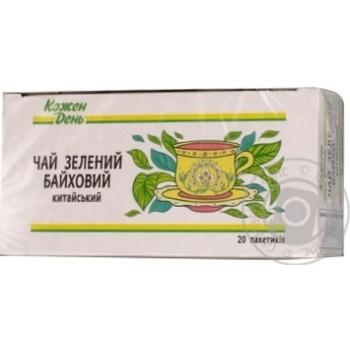 Зеленый чай Каждый день байховый китайский мелкий в пакетиках 20х1,5г Украина