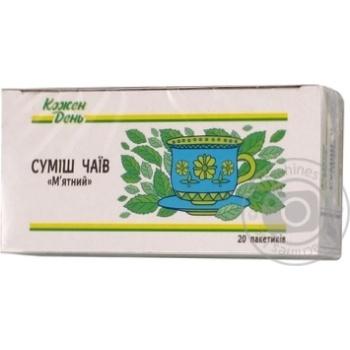 Смесь чаев Каждый день Мятный в пакетиках 20х1,35г