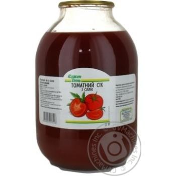 Сок Каждый день томатный с солью пастеризованный 3л