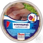 Сельдь Ашан филе-кусочки в масле с луком 200г Украина