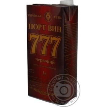 Вермут Одесский ЗКВ Портвин 777 крепкий красный 17,5% 1л