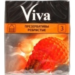 Viva Ribbed №3 Condom