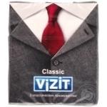 Презервативи Vizit Classic класичні латексні прозорі гладкі з накопичувачем і силіконовою змазкою 3шт