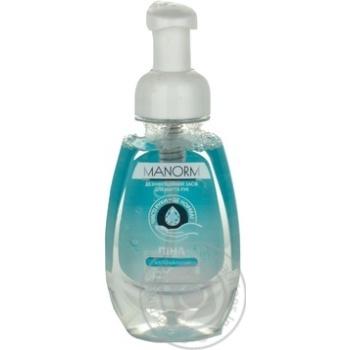 Средство дезинфицирующее Manorm Antibakterial для мытья рук антибактериальное с пеной 300мл с дозатором