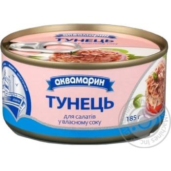 Тунец Аквамарин для салатов в собственном соку 185г - купить, цены на Восторг - фото 5
