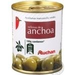Auchan Green Olives with anchovy 120g