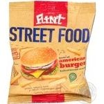 Сухарики Flint пшенично-ржаные со вкусом американский бургер 80г Украина