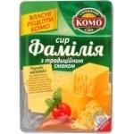 Сыр Комо Фамилия с традиционным вкусом твёрдый нарезанный ломтиками 50% 150г Украина