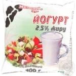 Йогурт Молочний світ Салатний 2.5% 400г плівка Україна