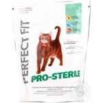 Корм сухий для стерилізованих котів Perfect Fit з курятиною 750г