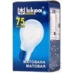 Лампа Искра матовая А55 230В 75Вт Е27