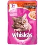 Корм для взрослых котов Whiskas с индейкой в соусе 100г - купить, цены на Ашан - фото 2