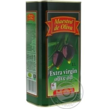 Масло Маэстро де Олива оливковое нерафинированное экстра вирджин первого холодного отжима 1000мл