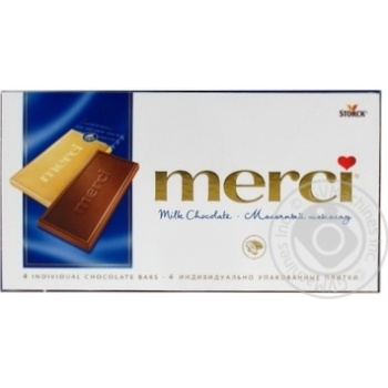Chocolate milky Merci 100g - buy, prices for Novus - image 1