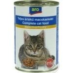 Корм Aro консервированный с мясом птицы для котов 415г - купить, цены на Метро - фото 1