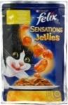 Корм для котів Фелікс Сенсейшнз з куркою в желе з морквою 20*100г