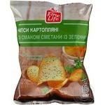 Чипсы Fine Life картофельные со вкусом сметаны с зеленью 65г