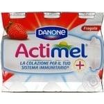 Продукт кисломолочный Danone Actimel Клубника 1,5% 100г