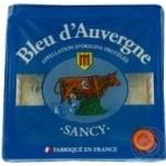 Bleu d'Auvergne Sancy мягкий с голубой плесенью 50% 125г - купить, цены на Ашан - фото 1