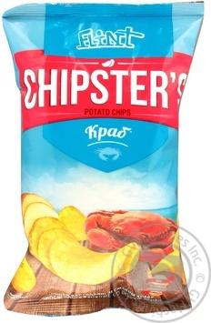 Чипсы натуральные Flint Chipster's краб 70г