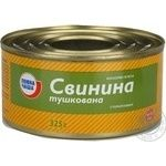 Meat Povna chasha pork canned stewed meat 325g