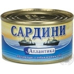 Fish sardines Atlantika with addition of butter 220g