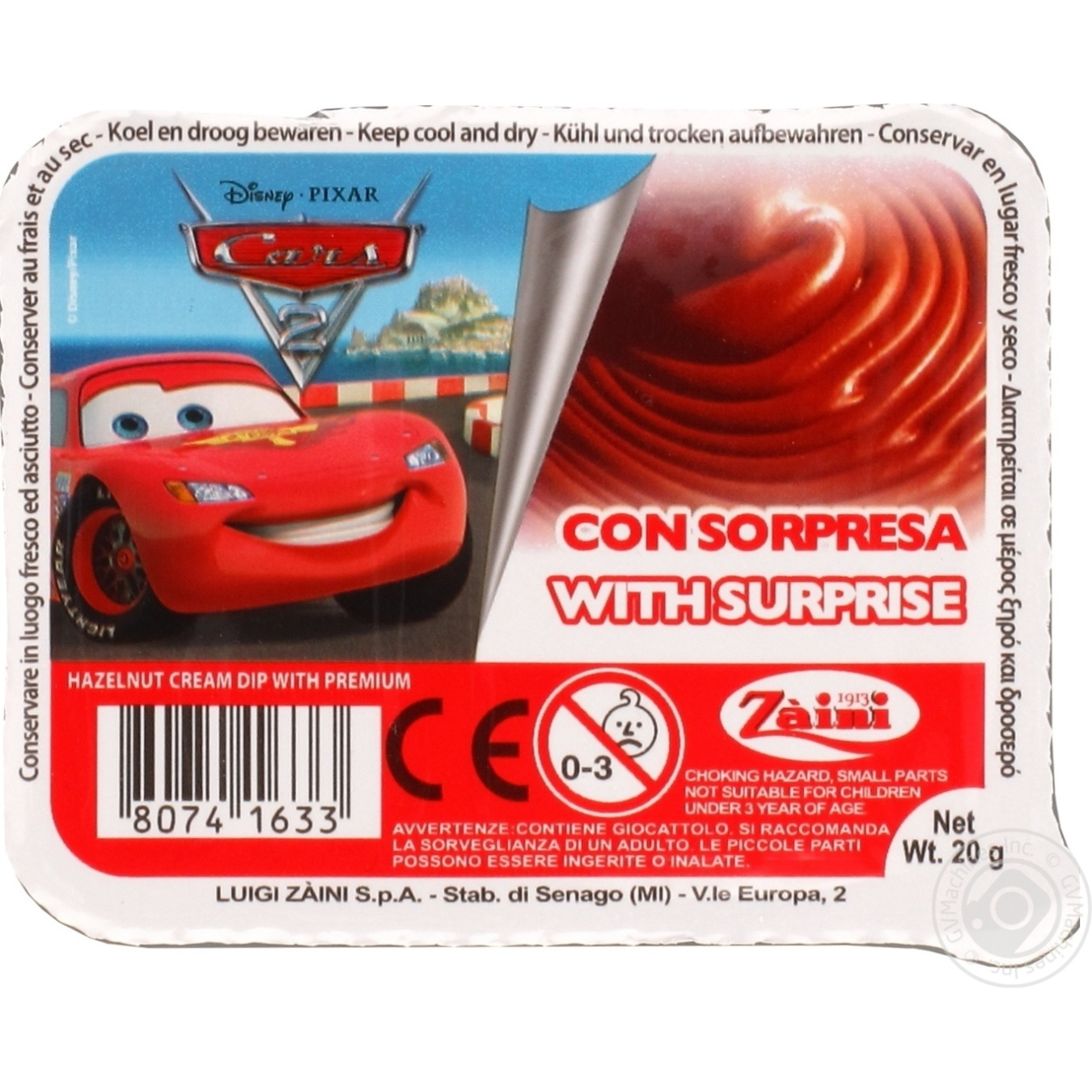Pasta Disney Disney nuts 20g → Snacks, Sweets and Chips