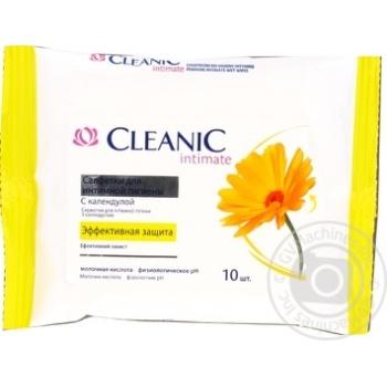 Серветки вологі для інтімной гігієни Cleanic 10шт
