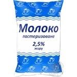 Молоко пастеризованное 2,5% п/э 900г