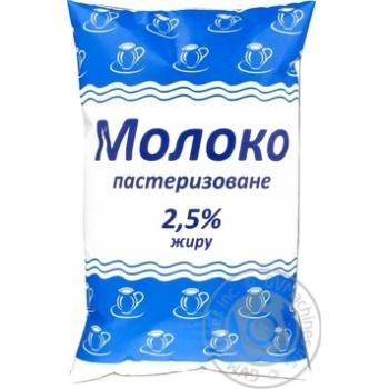 Молоко пастеризованное 2.5% 900г полиэтиленовый пакет