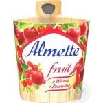 Сир-десерт Almette Hochland фруктовий з вишнею та журавлиною 150г