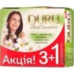 Мыло Duru FloralSens Жасмин/мол протеин 3+1 подар 4*90г/уп