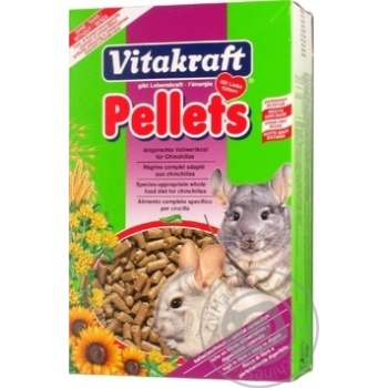 Корм для шиншил Vitakraft Pellets 1кг - купити, ціни на МегаМаркет - фото 1