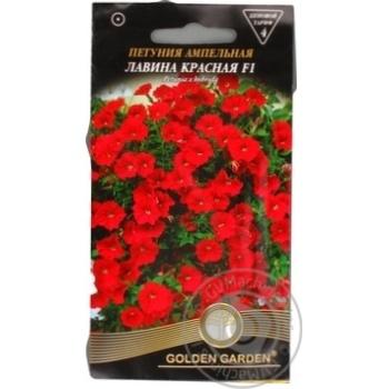 Насіння Квіти Петунія ампельна Лавина червона F1Golden Garden 10шт