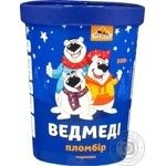 Морозиво Три Ведмеді пломбір Ведмеді у картонному стакані 500г