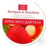 Крем-мусс для тела Fresh Juice Rambutan&Strawberry 225мл